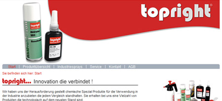 Screenshot der Webseite www.topright.de